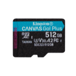 Kingston Technology Canvas Go! Plus memory card 512 GB MicroSD Class 10 UHS-I SDCG3/512GBSP