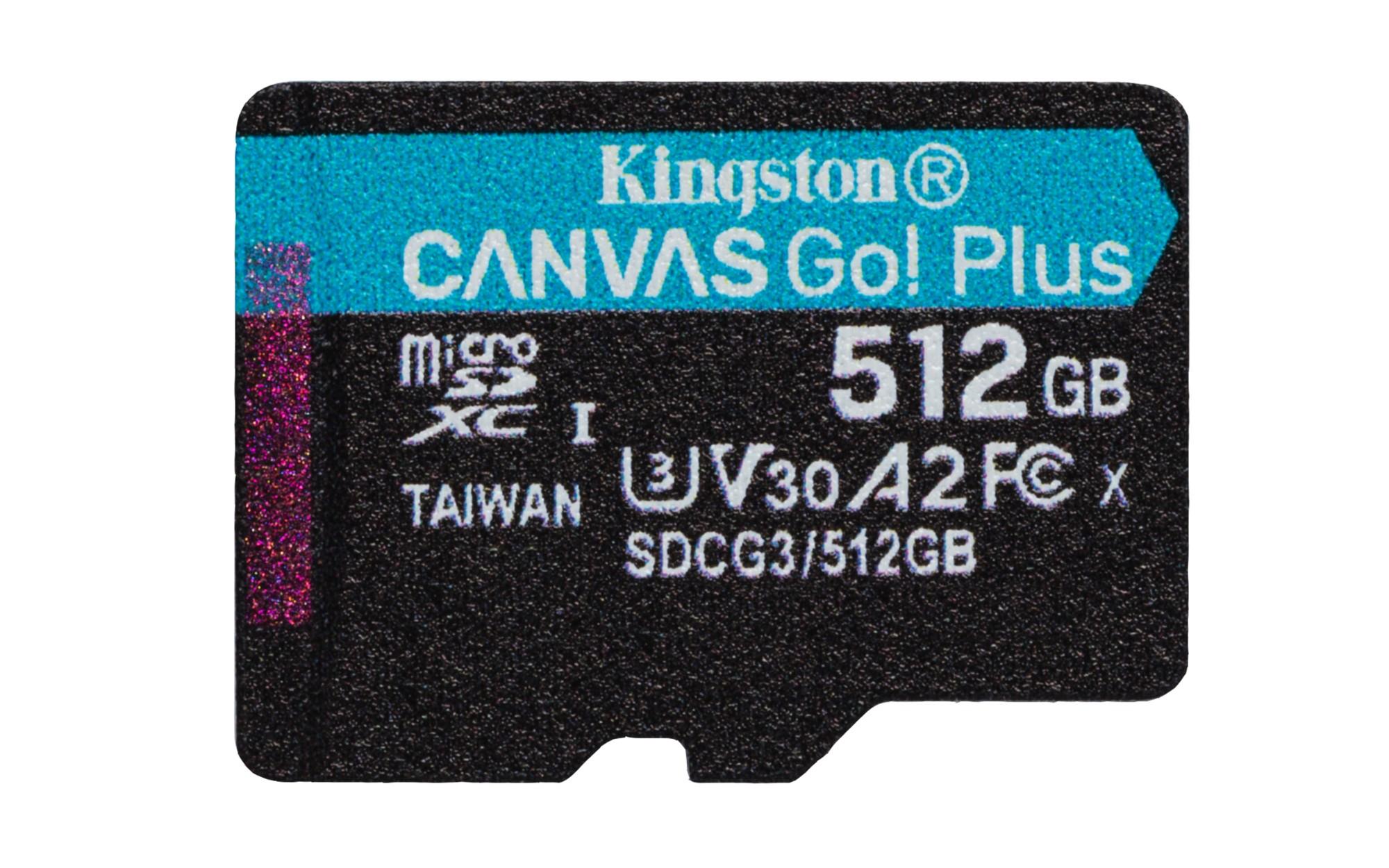 Kingston Technology Canvas Go! Plus memory card 512 GB MicroSD Class 10 UHS-I