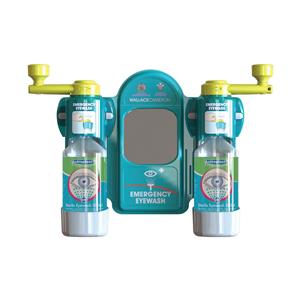 Wallace Cameron Eyewash Station Standard Mirror 2x Eyewash Bottle Ref 2402057 [FREE Eyewash] Apr-Jun 2015
