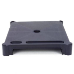 LEBLOC stackable 50mm monitor riser/stand in black; designed for CRT displays up to 17. (Cannot be used wit