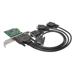 Tripp Lite 4-Port DB9 (RS-232) Serial PCI Express (PCIe) Card with Breakout Cable, Full Profile