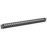 Tripp Lite 24-Port 1U Rack-Mount STP Shielded Cat6a Feedthrough Patch Panel, RJ45 Ethernet