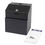 Safco 4232BL mailbox Black Steel
