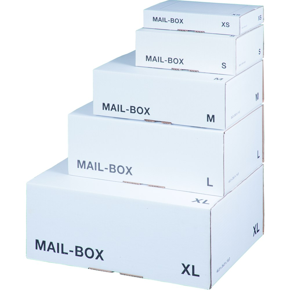 LSM White Mailing Box  240x180x 80mm Size S White PK20
