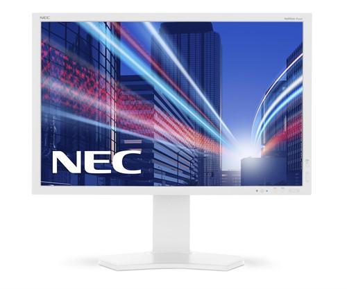 """NEC MultiSync P242W LED display 61.2 cm (24.1"""") WUXGA Flat White"""