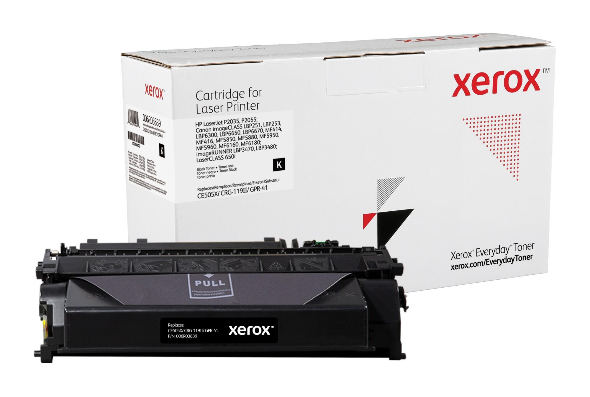 Xerox Tóner de Alto rendimiento Negro Everyday, HP CE505X/ CRG-119II/ GPR-41 equivalente de , 6500 páginas