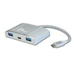 Siig JU-H30C11-S1 interface hub USB 3.0 (3.1 Gen 1) Type-C 5000 Mbit/s Silver