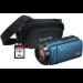 JVC GZ-R495 Blue 4GB Memory HD Quad Proof Camcorder Kit inc 32GB SD and Case