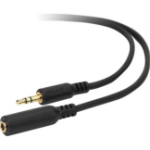 Belkin 6ft 3.5mm/3.5mm 1.8m 3.5mm 3.5mm Black audio cable