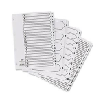 Concord Classic Index Mylar-reinforced Punched 4 Holes 1-200 A4 White Ref 05801/CS58ZZZZZ], 05801/CS58