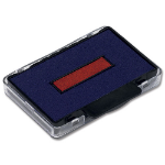 Trodat Replacmt Ink Pad 6/53 Red/Blu Pk2
