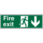 Stewart Superior Fire Exit Down Sign