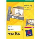 Avery White Heavy Duty Laser Labels