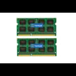 Hypertec Hyperam 16GB PC3-12800 1600MHz DDR3 (2x8GB) Dual Rank SODIMM Kit 512X8