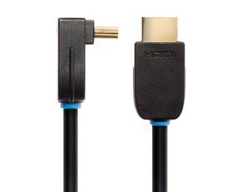 Techlink NX2 Right Angled HDMI A Plug to HDMI A Plug HDMI cable 5 m HDMI Type A (Standard) Black