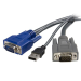 StarTech.com 10 ft Ultra-Thin USB VGA 2-in-1 KVM Cable