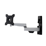 "Amer AMRWEX110 flat panel wall mount 61 cm (24"") Black,Stainless steel"