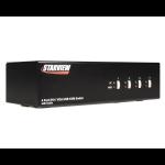 StarTech.com 4 Port StarView DVI/VGA Dual Display USB Audio KVM switch Black