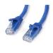 StarTech.com 50 ft Blue Snag-less Category 6 Patch Cable - ETL Verified 15.24m Blue networking cable