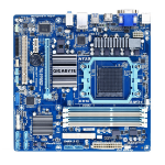 Gigabyte GA-78LMT-USB3 (rev. 4.1) North Bridge: AMD 760G  South Bridge: AMD SB710 Socket AM3+ Micro ATX motherboard