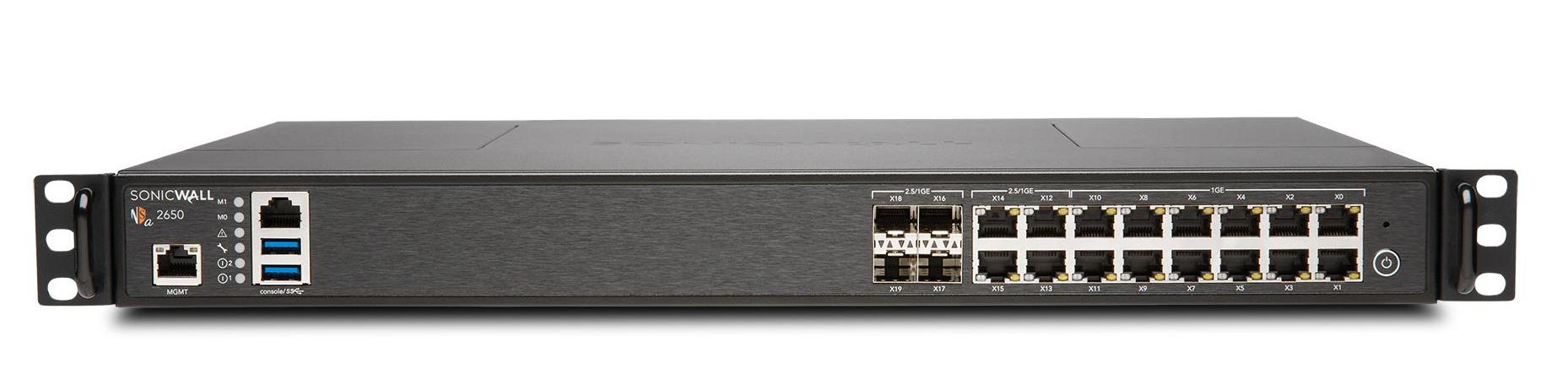 SonicWall NSa 2650 High Availability (HA) Unit cortafuegos (hardware) 3000 Mbit/s Escritorio