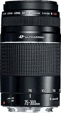 Canon EF 75-300mm f/4.0-5.6 III USM SLR Telephoto lens Black