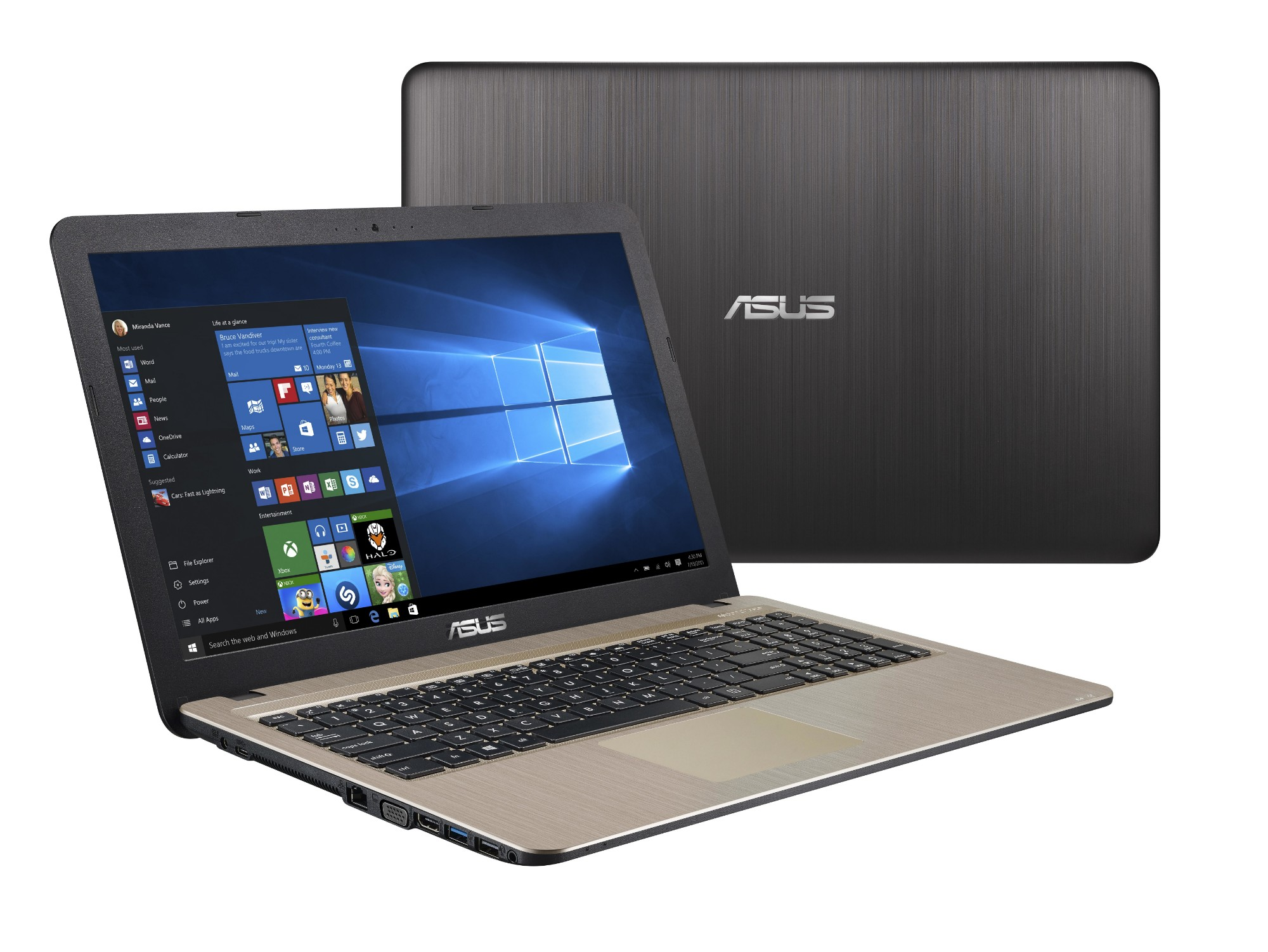 "ASUS VivoBook X540MA-DM152T notebook Black,Chocolate 39.6 cm (15.6"") 1920 x 1080 pixels Intel® Pentium® N5000 4 GB LPDDR4-SDRAM 1000 GB HDD"