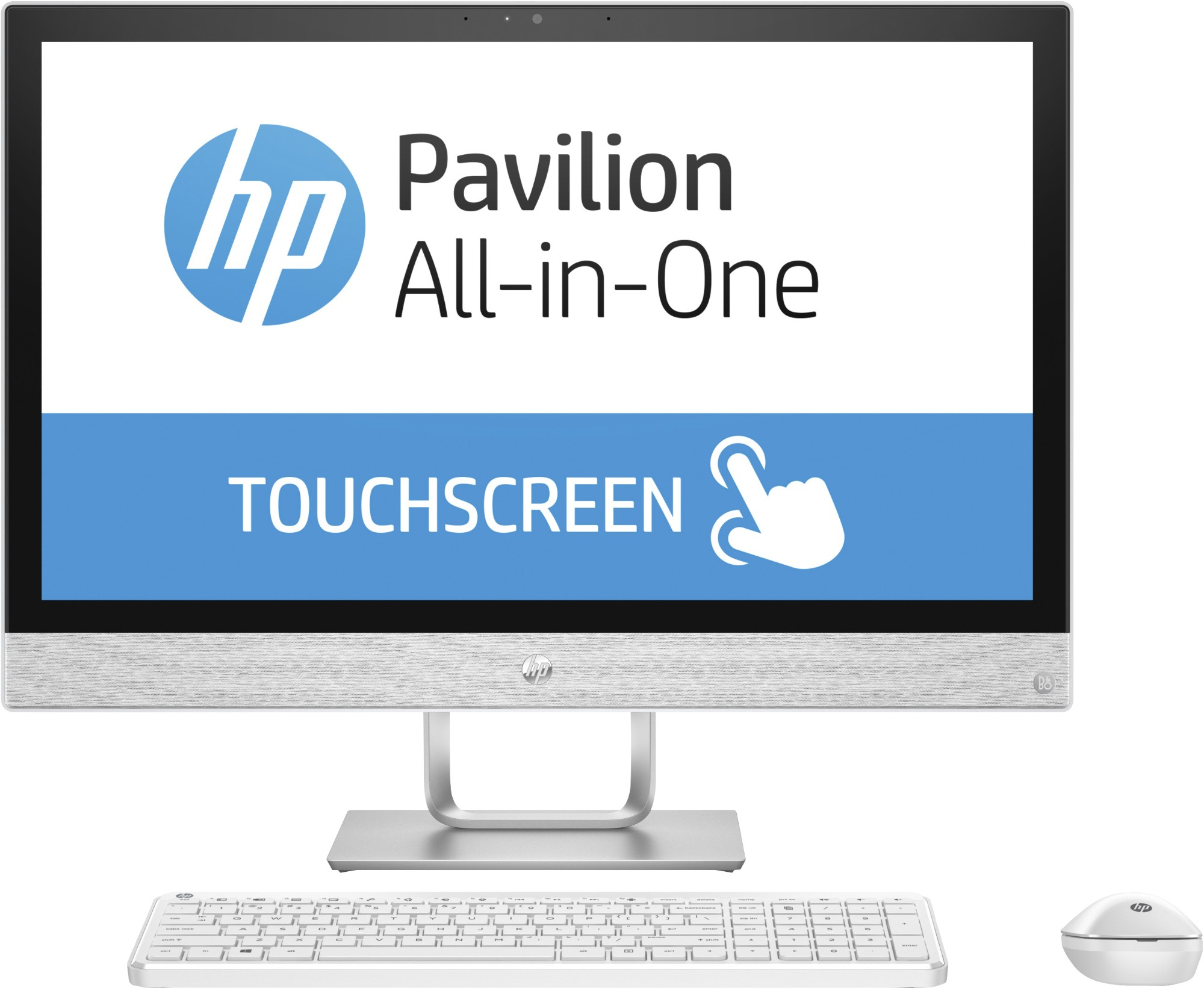 """HP Pavilion 24-r058a 60.5 cm (23.8"""") 1920 x 1080 pixels Touchscreen 2.4 GHz 7th gen Intel® Core™ i5 i5-7400T White All-in-One PC"""