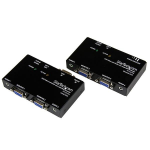 StarTech.com VGA and Audio over Cat5 Extender AV transmitter & receiver Black