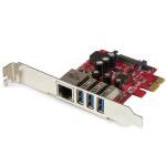 StarTech.com 3-Port PCI Express USB 3.0 Card + Gigabit Ethernet PEXUSB3S3GE