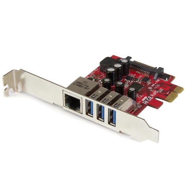 StarTech.com Tarjeta Adaptador de Red Ethernet Gigabit Combo con Hub Concentrador USB 3.0 de 3 Puertos