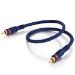 C2G 2m Velocity Digital Audio Coax Cable cable de vídeo compuesto RCA Negro