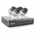 Swann SWDVK-845504-UK 8-Channel Security System and 4 Cameras with 30 m 2 TB 1080p Night Vision CCTV Kit