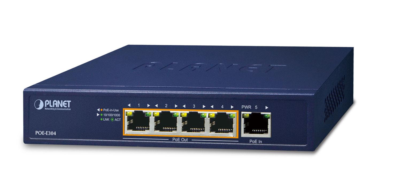 PLANET POE-E304 network extender Network transmitter & receiver Blue 10, 100, 1000 Mbit/s