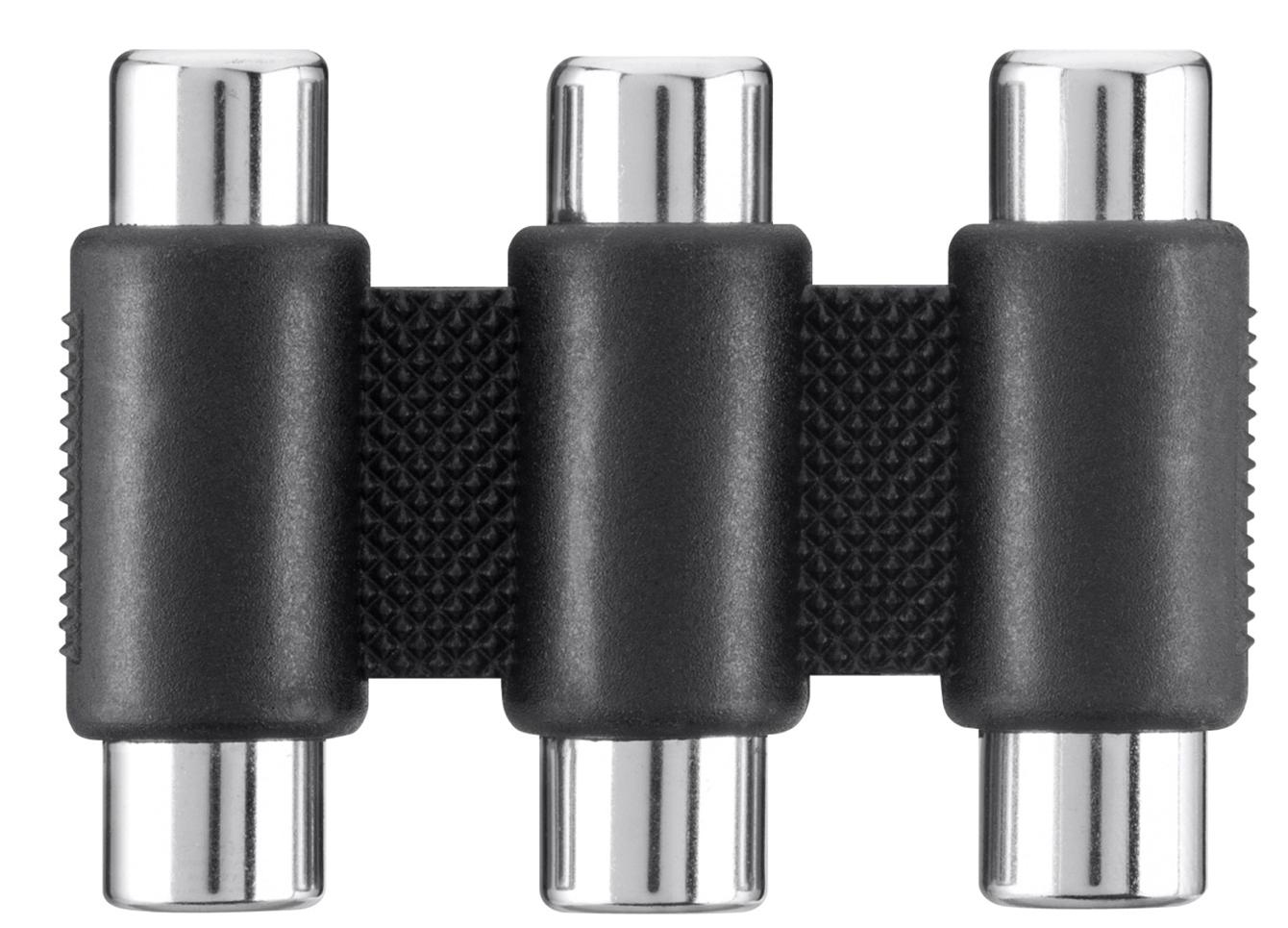 Belkin F3Y091BF cable interface/gender adapter 3 x RCA Black
