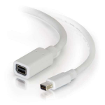 C2G 2m Mini DisplayPort Extension Cable M/F - White
