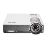 ASUS P3B Portable projector 800ANSI lumens DLP WXGA (1280x800) 3D White data projector