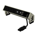 Bachmann DESK 2 power extension 0.2 m 2 AC outlet(s) Black, Stainless steel