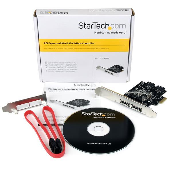 1x SATA 6 Gbps PCI Express SATA Controller Card Adapter StarTech ...