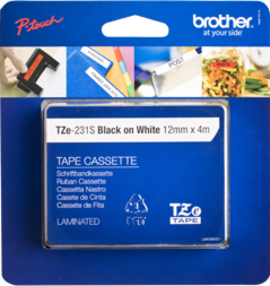 Brother TZE-231S2 P-Touch Ribbon, 12mm x 4m