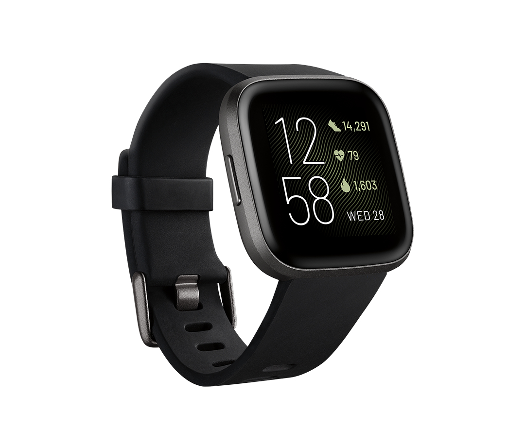 Fitbit Versa 2 smartwatch Black,Grey AMOLED 3.55 cm (1.4