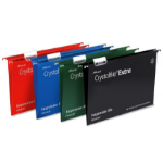 Rexel Crystalfile Extra Foolscap Suspension File 15mm Red (25)