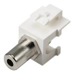 Cablenet 3.5mm Stereo Female - Female Keystone White