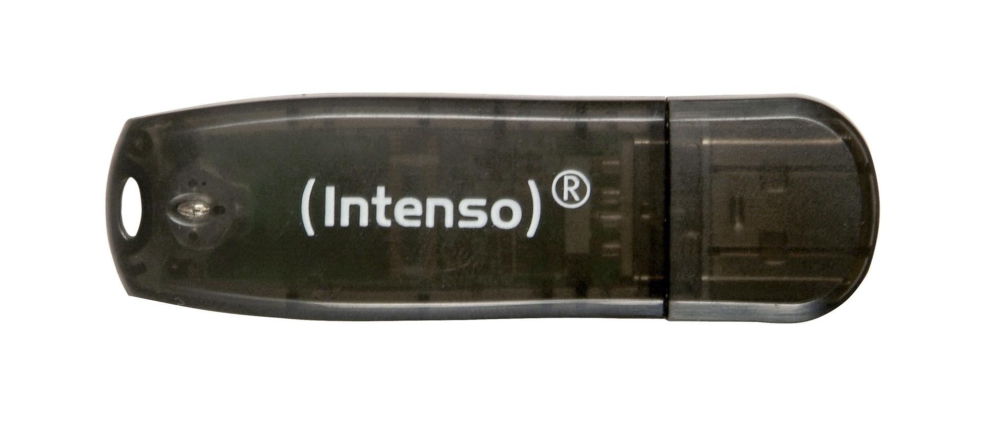 Intenso USB Drive 16 GB Rainbow Line, Black 16GB USB 2.0 Type-A Black USB flash drive