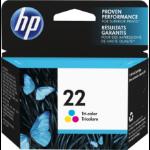 HP 22 Tri-color 1 pc(s) Original Cyan, Magenta, Yellow