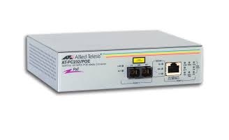 Allied Telesis AT-PC232/POE-50 100Mbit/s 1310nm Grey network media converter