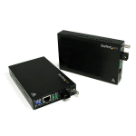 StarTech.com 10/100 Mbps Ethernet Single Mode WDM Fiber Media Converter Kit SC 20km