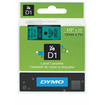 DYMO LABEL TAPE DYMO D1 12MMX7M BLACK ON GREEN(EACH)