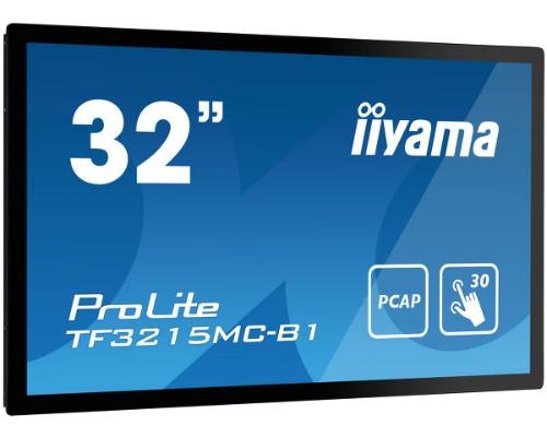 "iiyama ProLite TF3215MC-B1 touch screen monitor 81.3 cm (32"") 1920 x 1080 pixels Black Single-touch Kiosk"