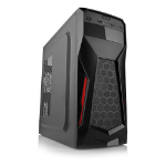 DYNAMODE GC375 LockStock Series Gaming ATX/M-ATX PC Case, Black (GC375)